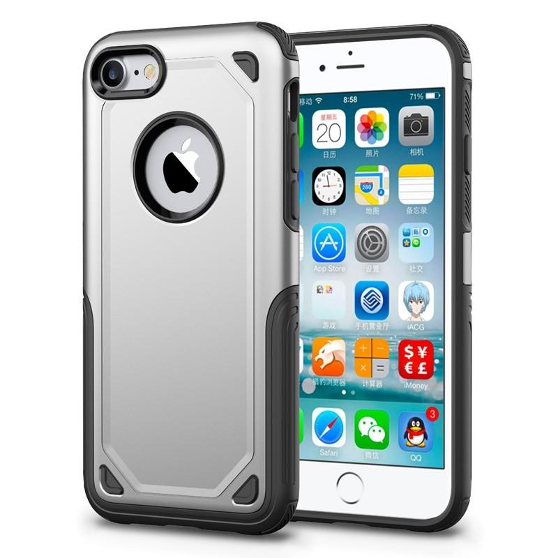Mobiq Extra Stevig Hoesje iPhone 8/7 Zilver - 1