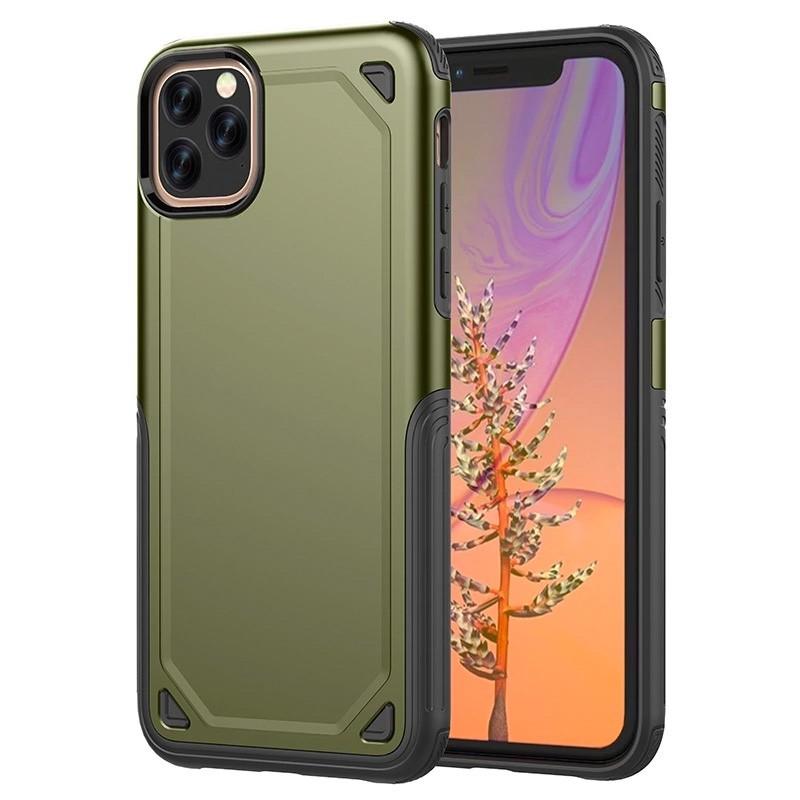 Mobiq Extra Beschermend Hoesje iPhone 12 /12 Pro Groen - 1
