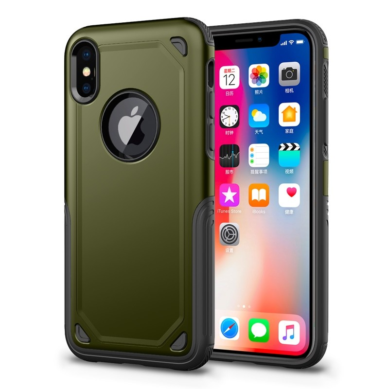 Mobiq Extra Stevig Hoesje iPhone XR Groen - 1