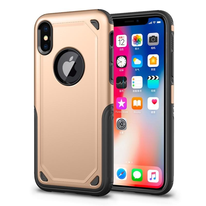 Mobiq Extra Stevig Hoesje iPhone XS Max Goud - 1