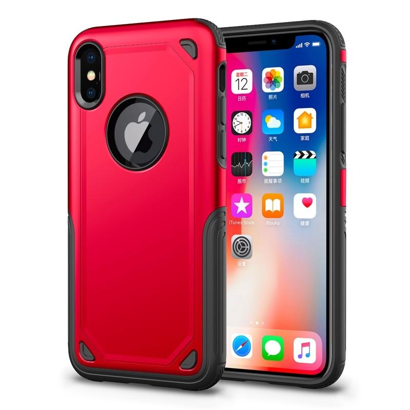 Mobiq Extra Stevig Hoesje iPhone X/XS Rood - 1