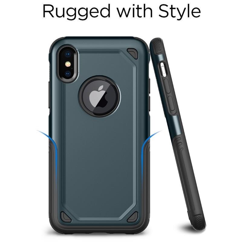 Mobiq Extra Stevig Hoesje iPhone X/XS Blauw - 2