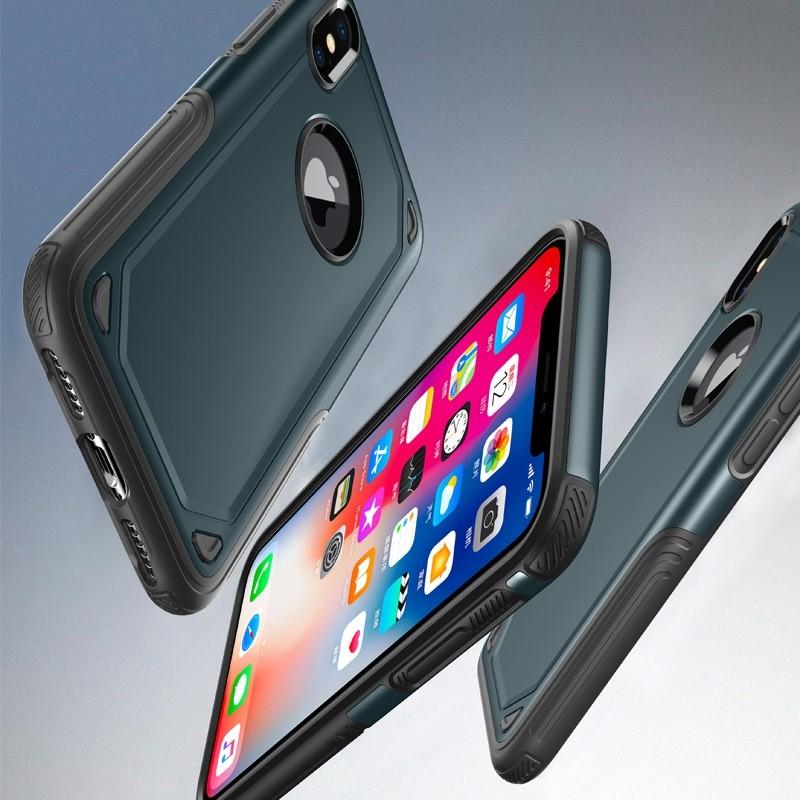 Mobiq Extra Stevig Hoesje iPhone X/XS Blauw - 4