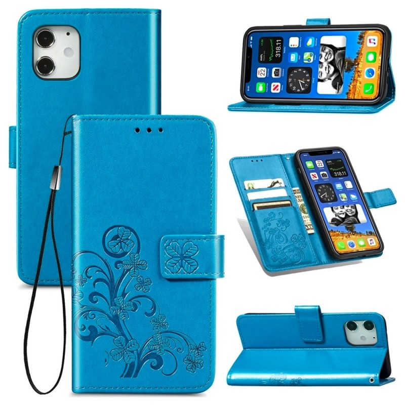 Mobiq Fashion Wallet Book Cover iPhone 12 Mini Blauw - 3