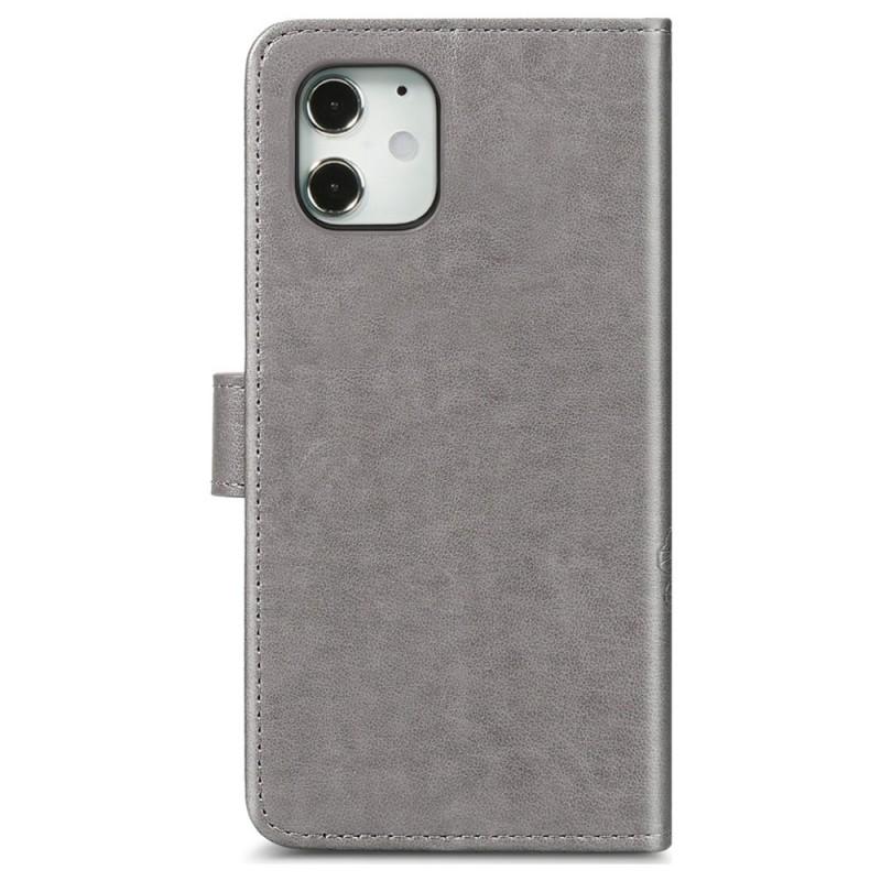 Mobiq Fashion Wallet Book Cover iPhone 12 Mini Grijs - 3