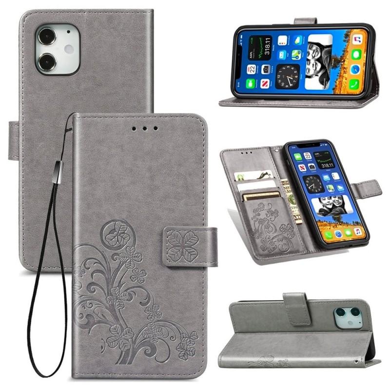 Mobiq Fashion Wallet Book Cover iPhone 12 Mini Grijs - 2