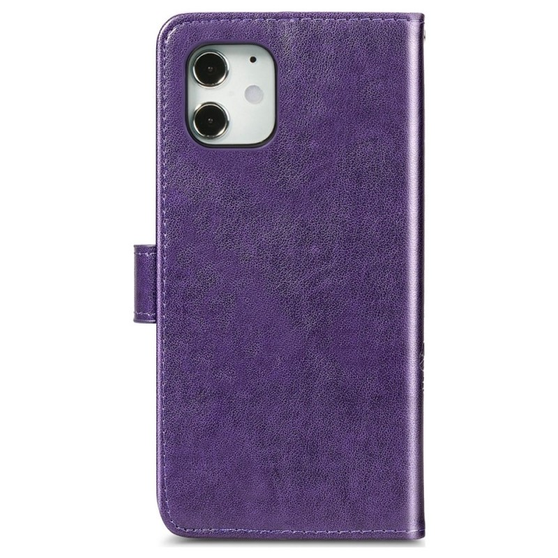 Mobiq Fashion Wallet Book Cover iPhone 12 Mini Paars - 2