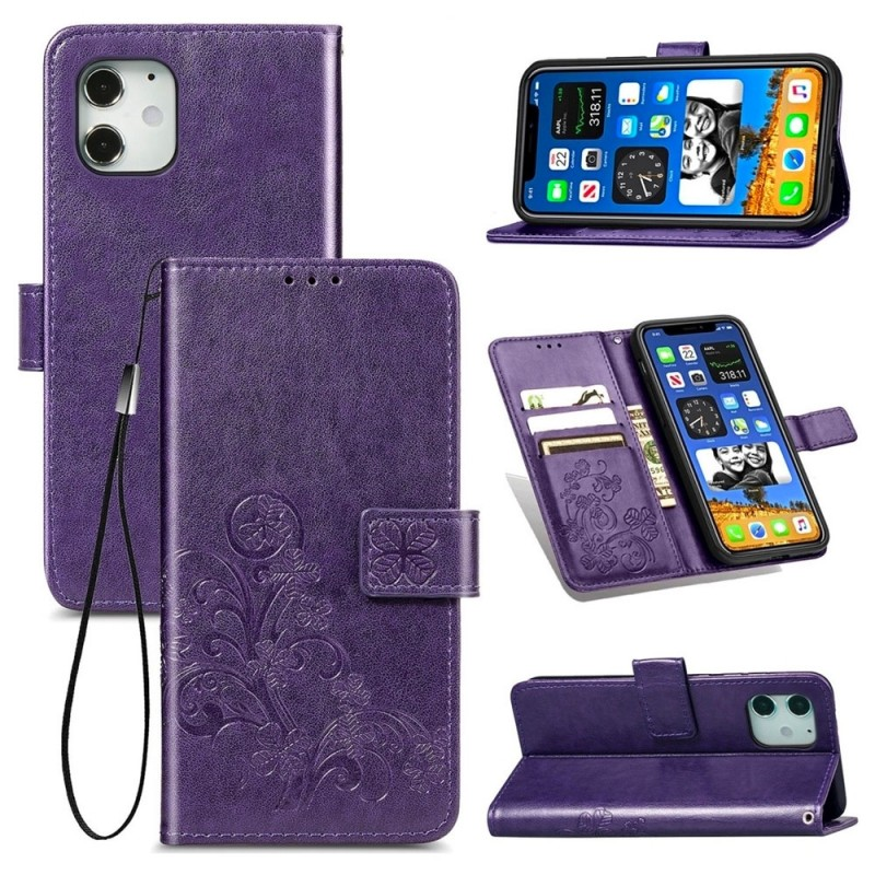 Mobiq Fashion Wallet Book Cover iPhone 12 Mini Paars - 3