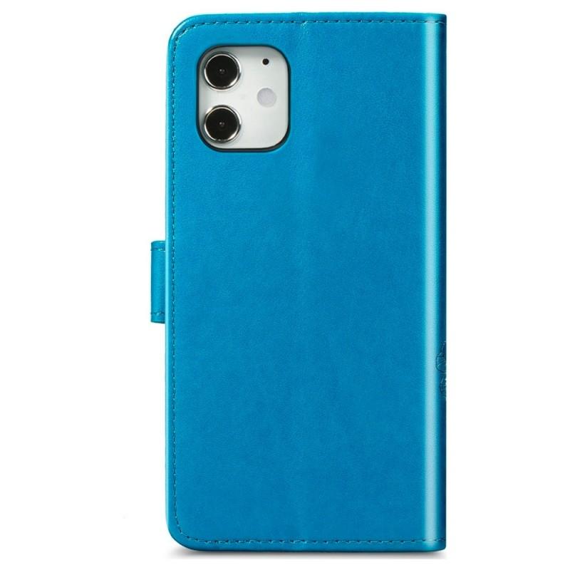 Mobiq Fashion Wallet Book Cover iPhone 12 6.1 Blauw - 2