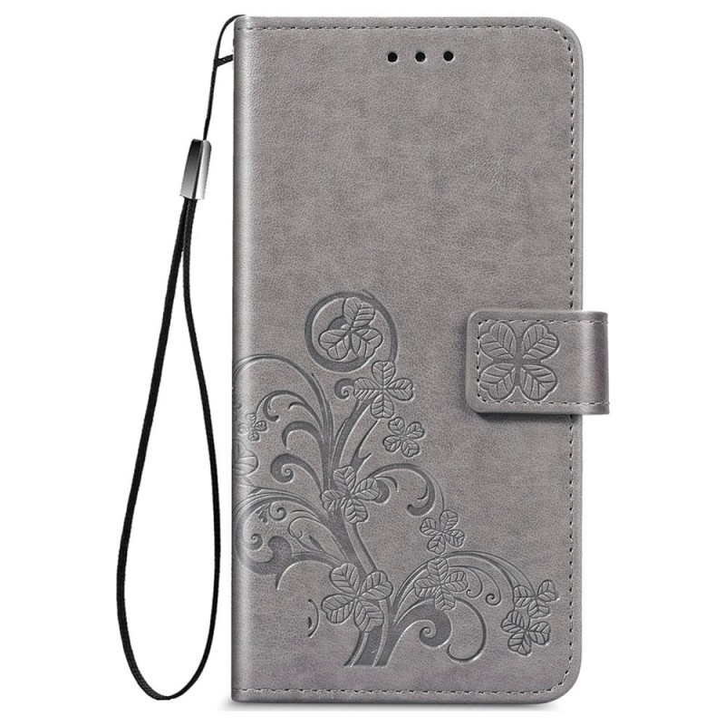 Mobiq Fashion Wallet Book Cover iPhone 12 6.1 Grijs - 1