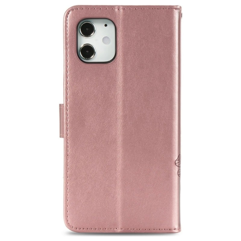 Mobiq Fashion Wallet Book Cover iPhone 12 6.1 Rose Gold - 2