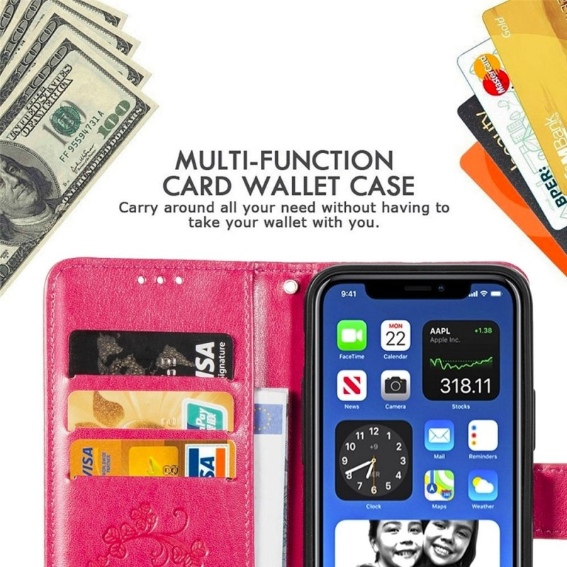 Mobiq Fashion Wallet Book Cover iPhone 12 6.1 Paars - 6