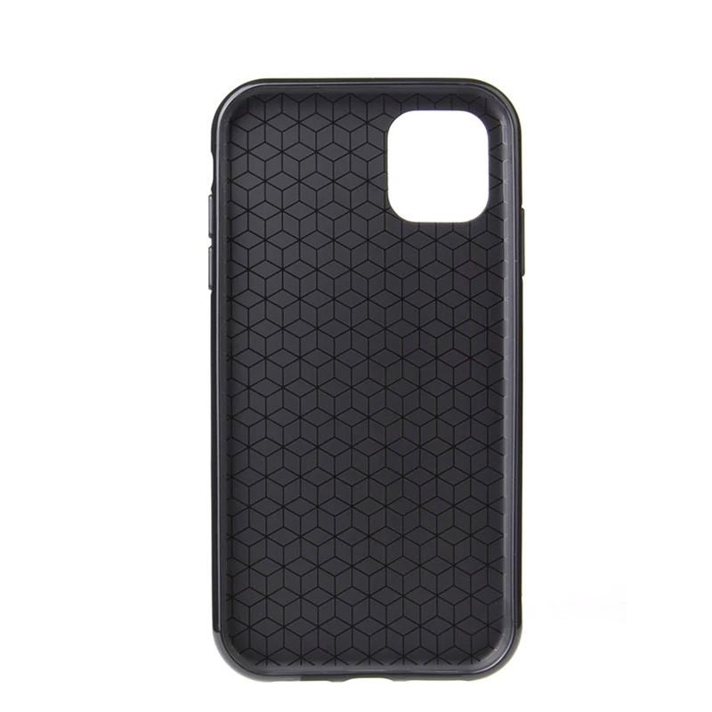 Mobiq Flexibel Carbon Hoesje iPhone 11 Zilver - 4