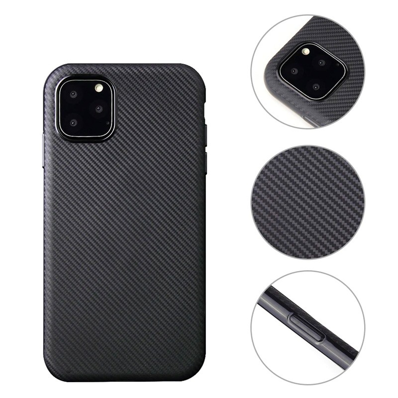 Mobiq Flexibel Carbon Hoesje iPhone 11 Pro Zilver - 2
