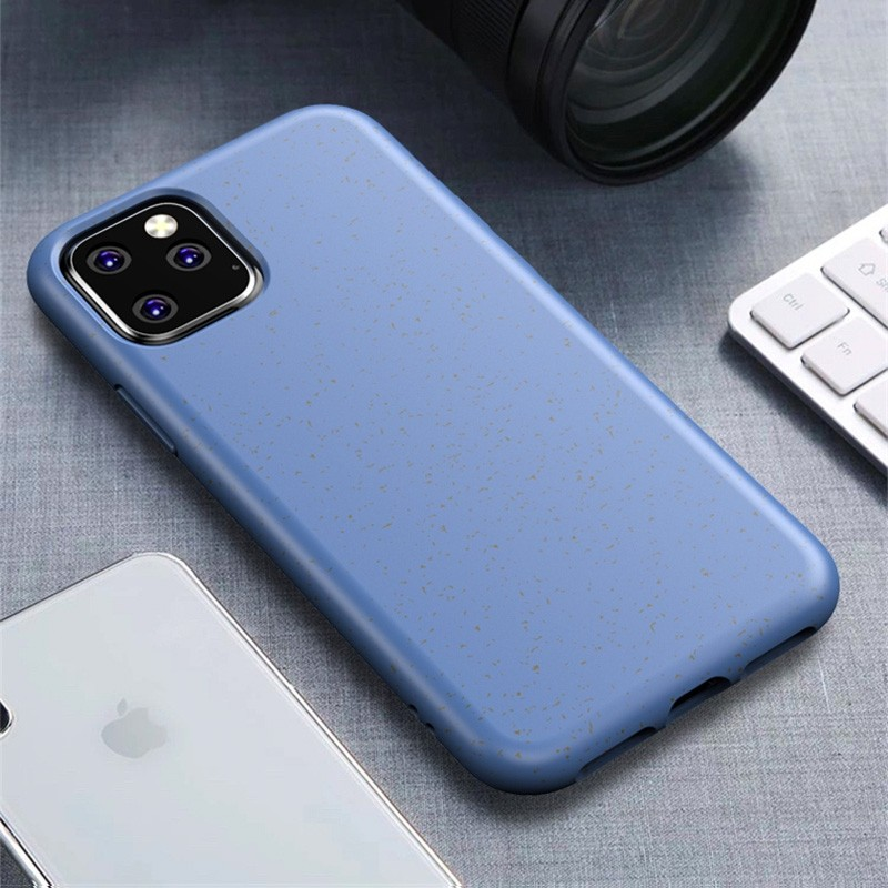 Mobiq Flexibel Eco Hoesje iPhone 11 Blauw - 1