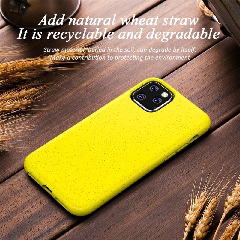 Mobiq Flexibel Eco Hoesje iPhone 11 Pro Max Geel - 5