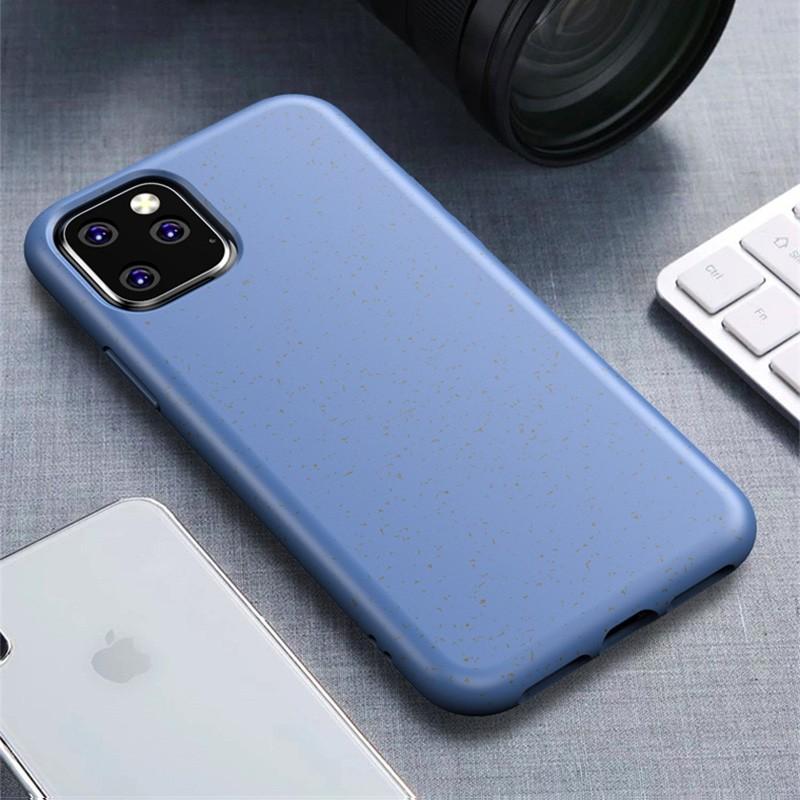 Mobiq Flexibel Eco Hoesje iPhone 11 Pro Max Blauw - 1