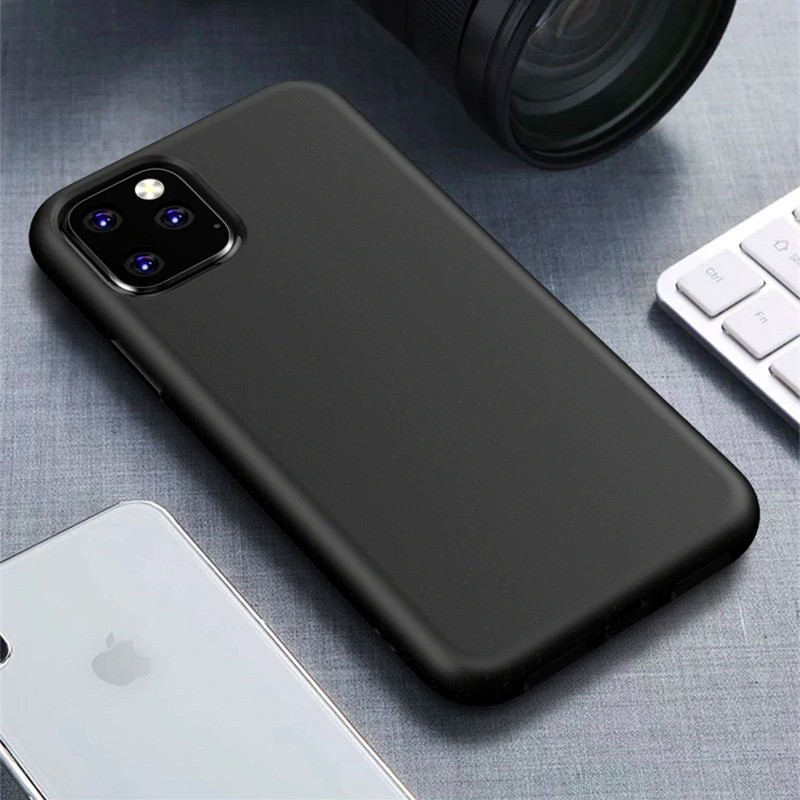 Mobiq Flexibel Eco Hoesje iPhone 11 Pro Max Zwart - 1