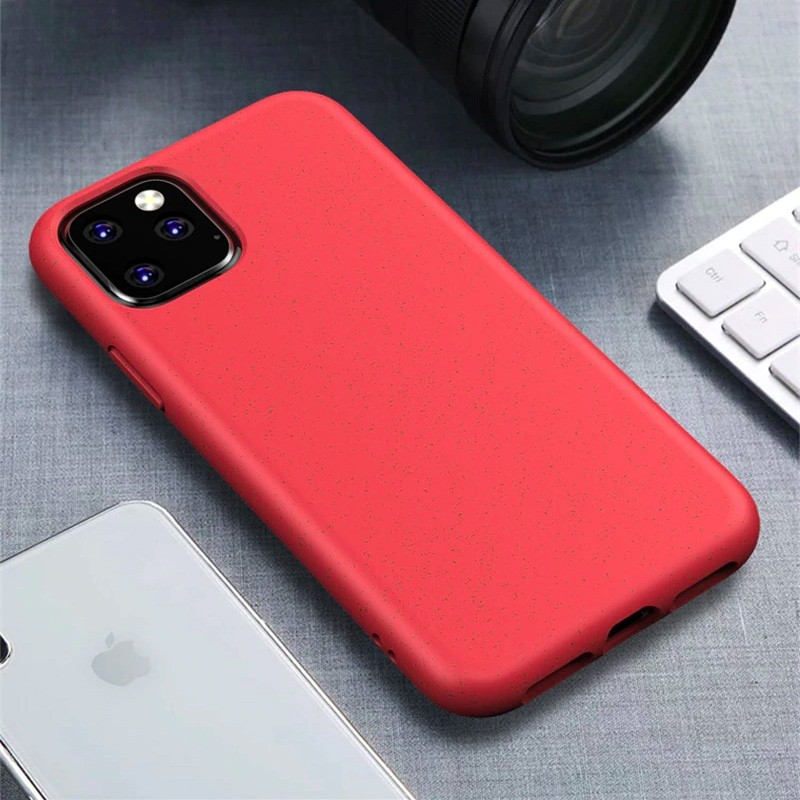 Mobiq Flexibel Eco Hoesje iPhone 11 Rood - 1