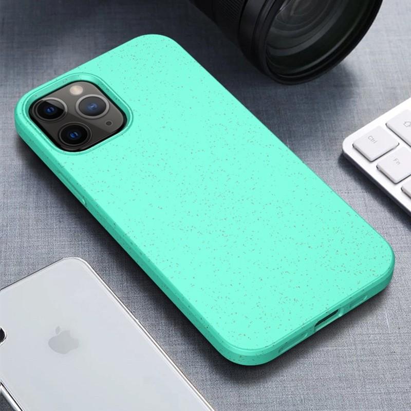 Mobiq Flexibel Eco Hoesje iPhone 12 6.1 inch Turqoise - 1
