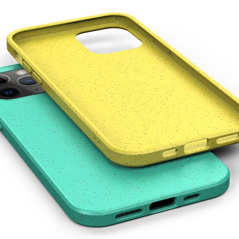 Mobiq Flexibel Eco Hoesje iPhone 12 6.1 inch Geel - 4