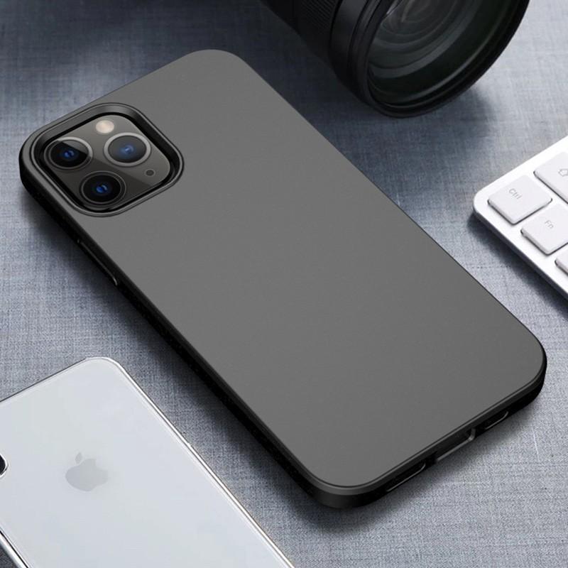 Mobiq Flexibel Eco Hoesje iPhone 12 6.1 inch Zwart - 1
