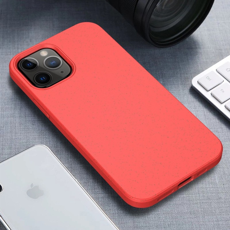Mobiq Flexibel Eco Hoesje iPhone 12 6.1 inch Rood - 1