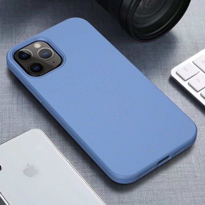 Mobiq Flexibel Eco Hoesje iPhone 12 Pro Max Blauw - 1