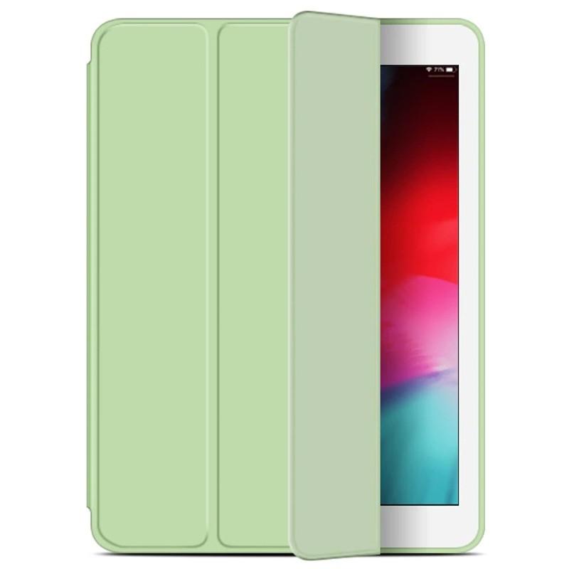 Mobiq Flexibele Tri-folio hoes iPad 9.7 2018/2017, iPad Air 2, iPad Air 1 Lime groen 01