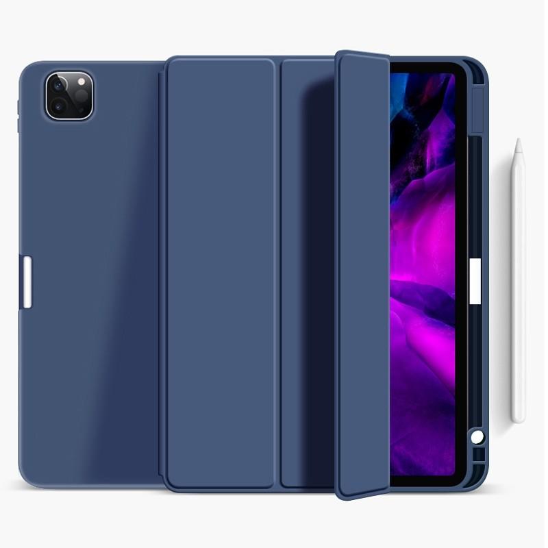 Mobiq Flexibele Trifold Folio Hoes iPad Pro 11 (2021) Blauw - 1