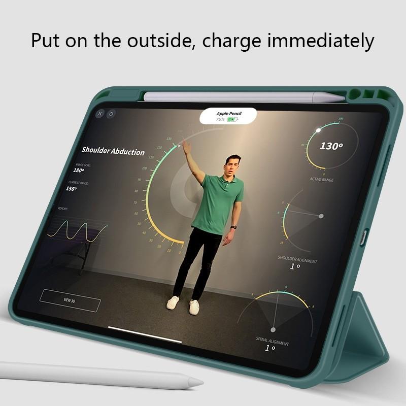 Mobiq Flexibele Folio Hoes iPad Pro 12.9 inch (2021) Mintgroen - 5