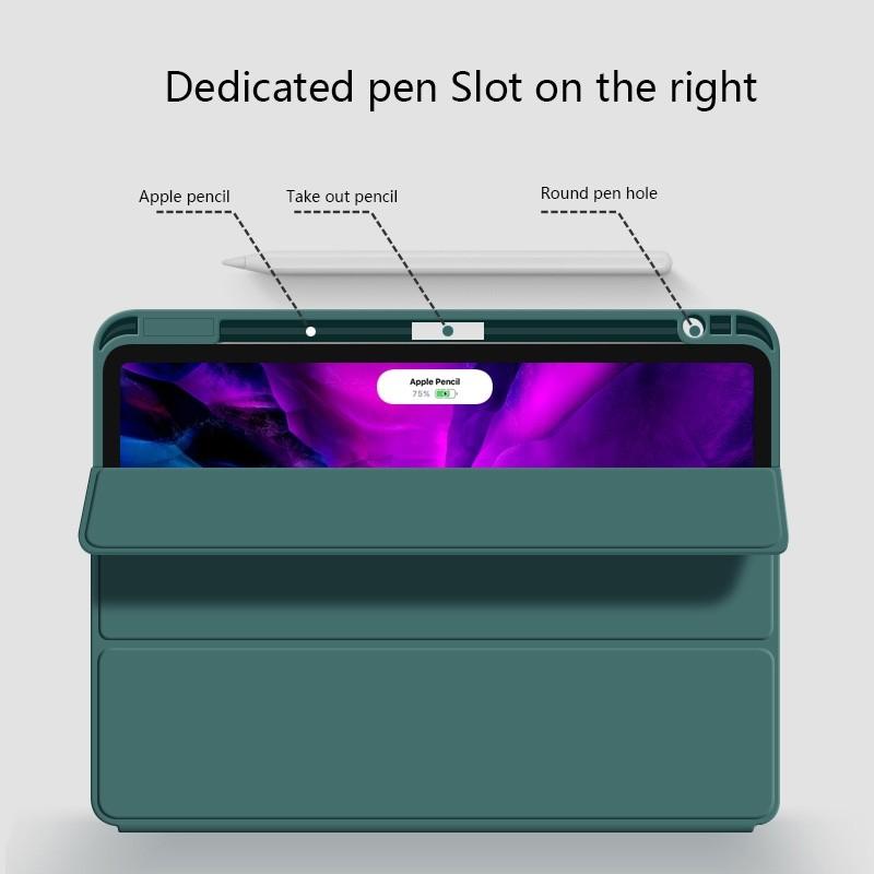 Mobiq Flexibele Folio Hoes iPad Pro 12.9 inch (2021) Mintgroen - 4
