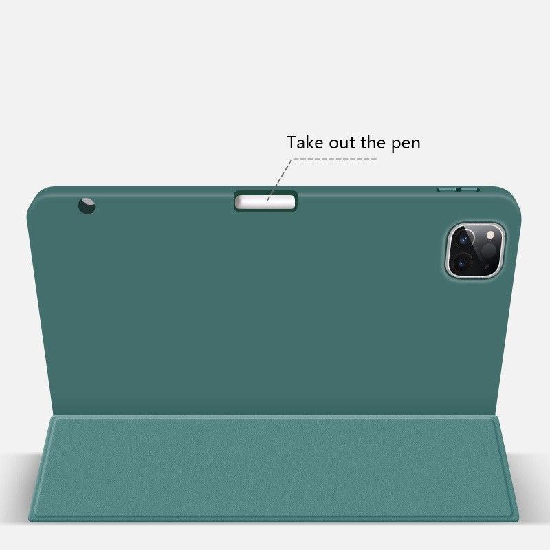 Mobiq Flexibele Trifold Folio Hoes iPad Pro 11 (2021) Mintgroen - 3