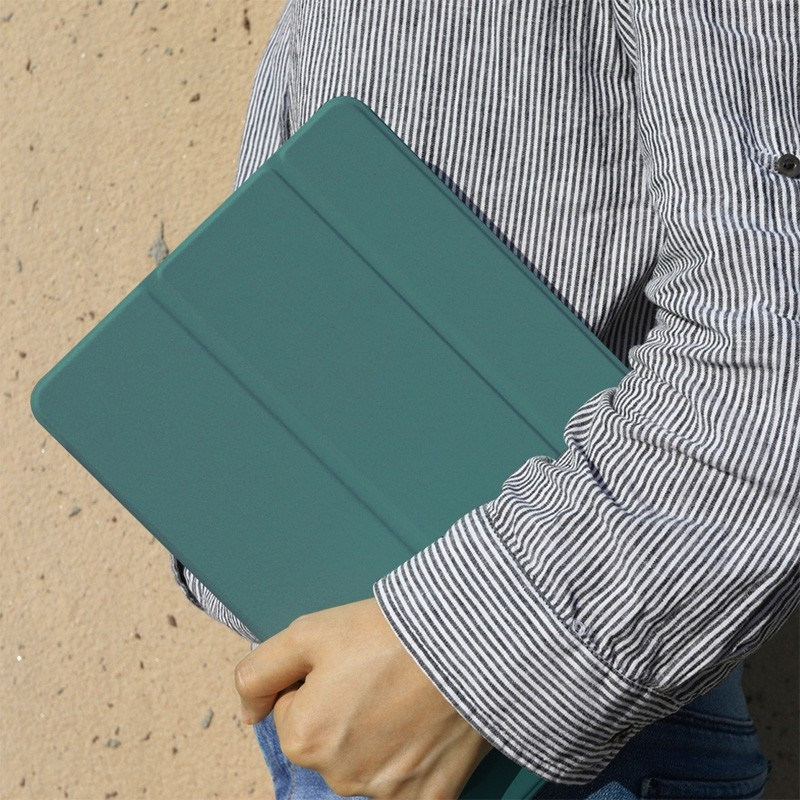 Mobiq Flexibele Folio Hoes iPad Pro 12.9 inch (2021) Grijs - 2