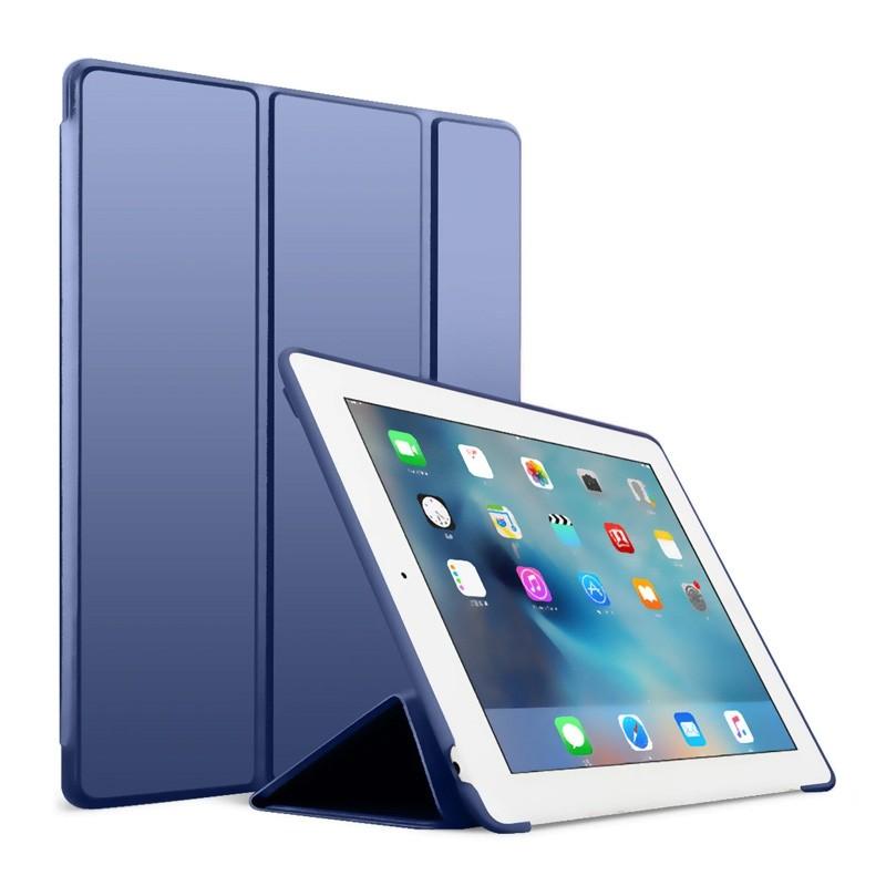Mobiq Flexibele Tri-folio hoes iPad Air 10.5 Blauw 01