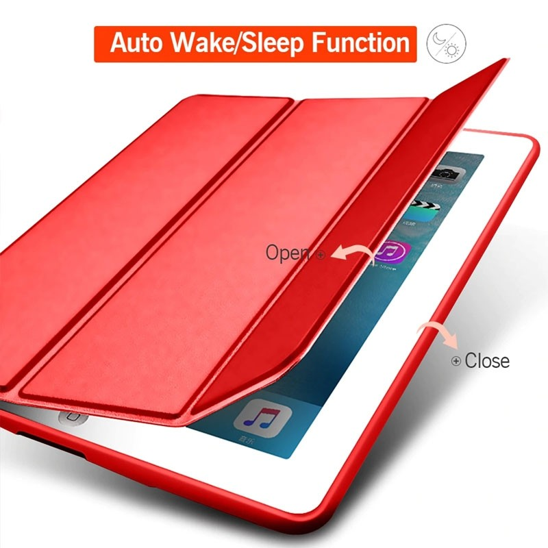 Mobiq Flexibele Tri-folio hoes iPad Air 10.5 Rood 03