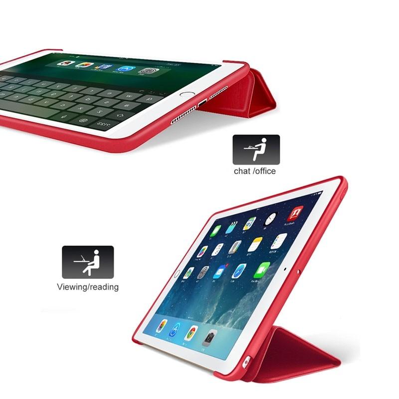 Mobiq Flexibele Tri-folio hoes iPad Air 10.5 Rood 06