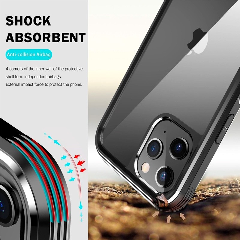 Mobiq Rugged 360 Graden Full Body Case iPhone 12 Mini Zwart - 4