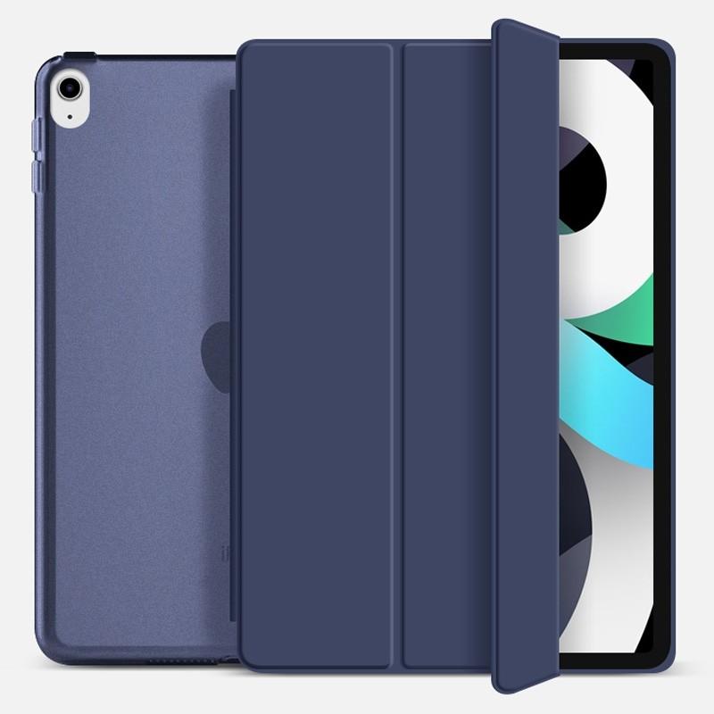 Mobiq Hard Case Folio Hoesje iPad Air (2020) Donkerblauw - 1