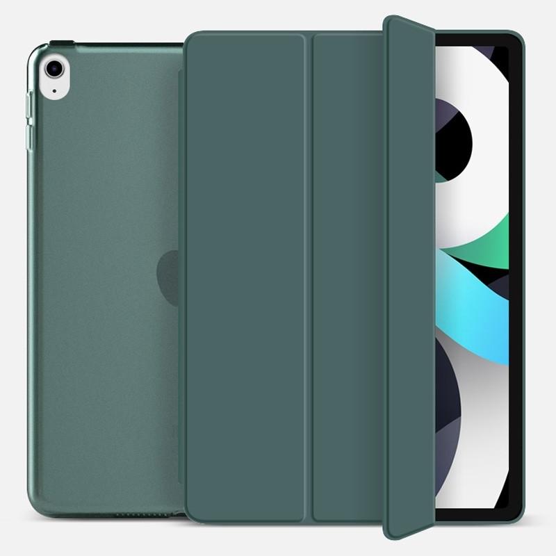 Mobiq Hard Case Folio Hoesje iPad Air (2020) Donkergroen - 1