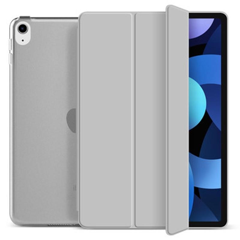 Mobiq Hard Case Folio Hoesje iPad Air (2020) Grijs - 1