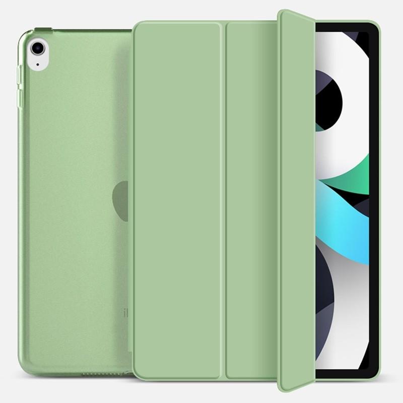 Mobiq Hard Case Folio Hoesje iPad Air (2020) Mintgroen - 1