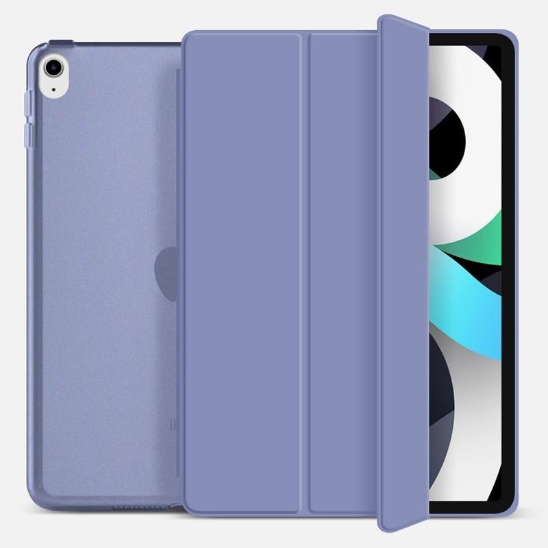Mobiq Hard Case Folio Hoesje iPad Air (2020) Paars - 1