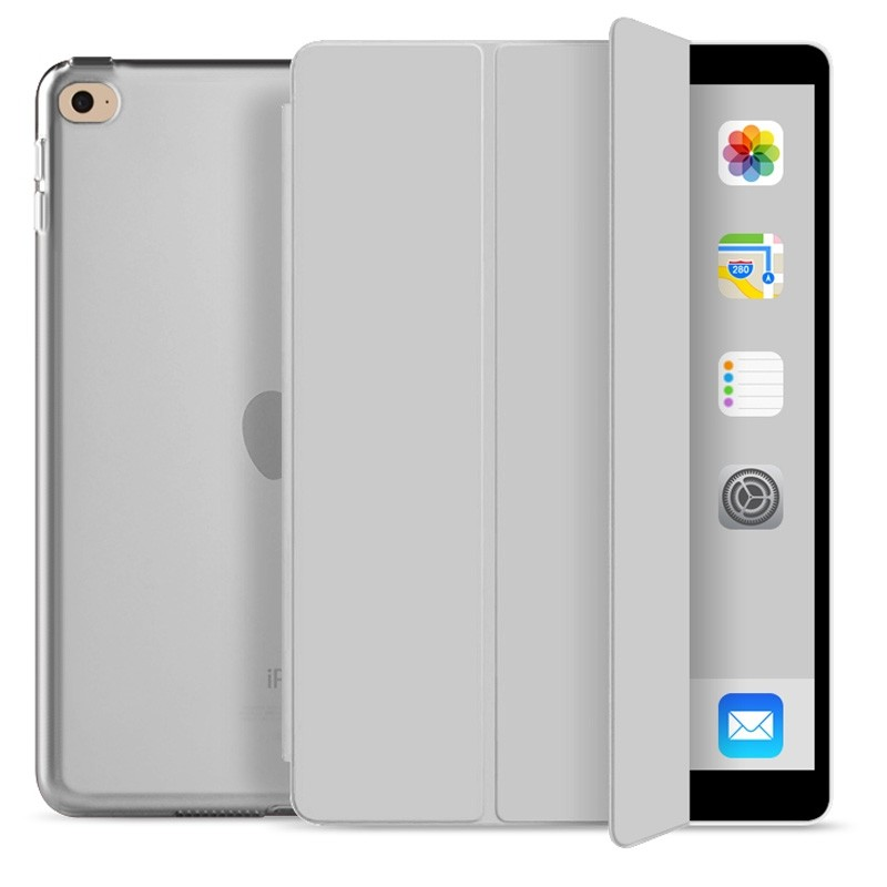 Mobiq Hard Case Folio Hoes iPad 9.7 inch (2017/2018) Grijs - 1