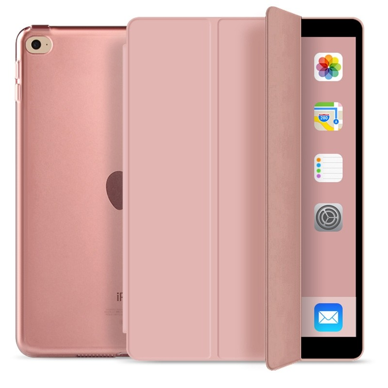 Mobiq Hard Case Folio Hoes iPad 9.7 inch (2017/2018) Roze - 1