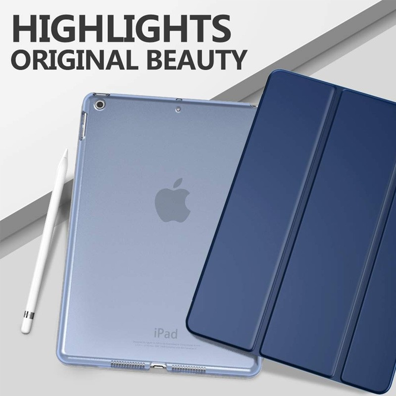 Mobiq Hard Case Folio Hoes iPad 9.7 inch (2017/2018) Grijs - 5