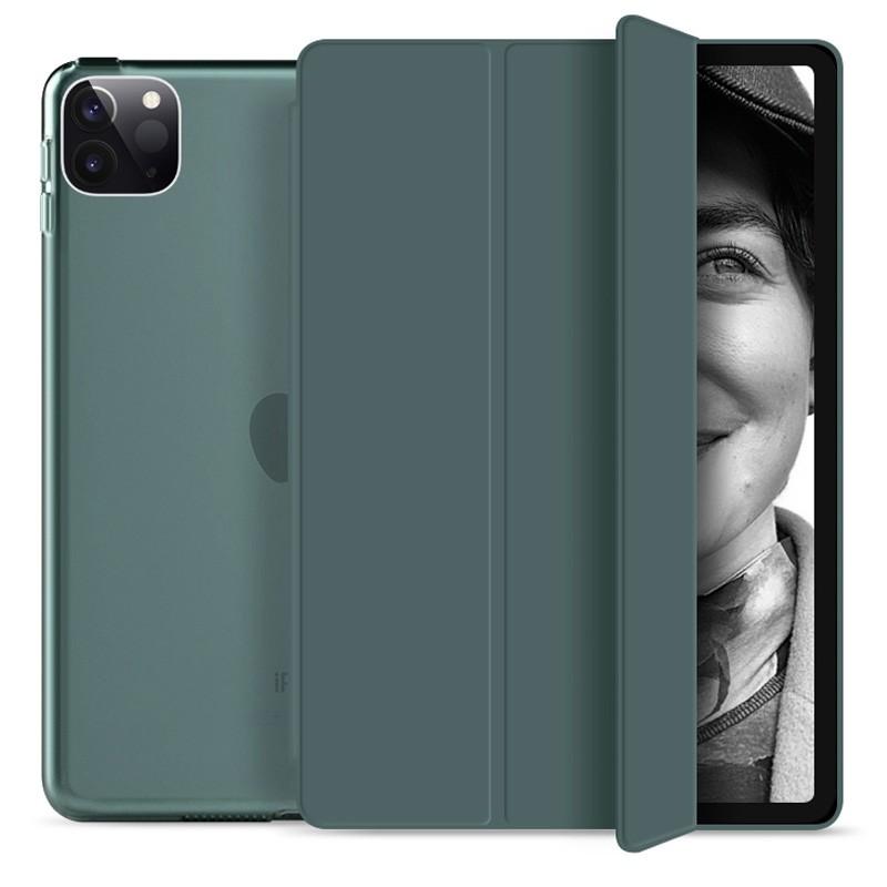 Mobiq Hard Case Folio Hoesje iPad Pro 11 (2021) Donkergroen - 1