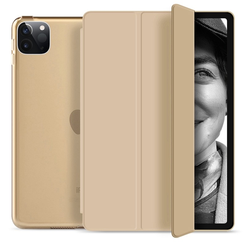Mobiq Hard Case Folio Hoesje iPad Pro 11 (2021) Goud - 1