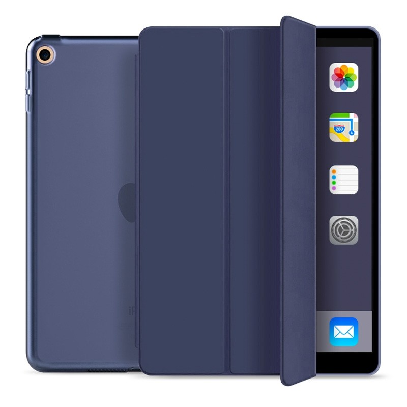 Mobiq Trifold Folio Hard Case iPad 10.2 (2020/2019) Donkerblauw - 1