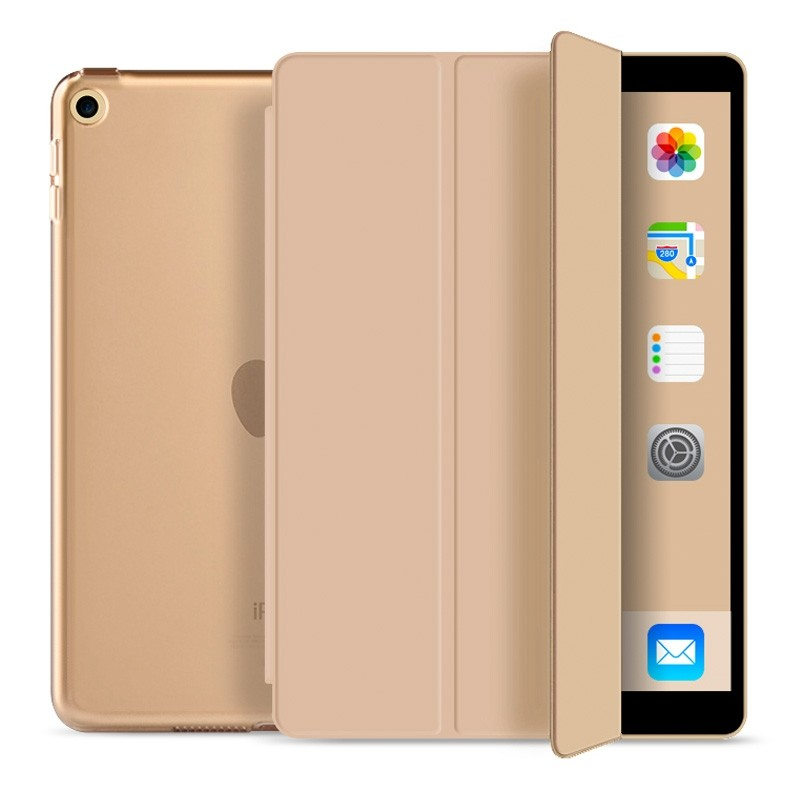 Mobiq Trifold Folio Hard Case iPad 10.2 (2020/2019) Goud - 1